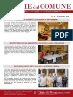 Notizie Dal Comune di Borgomanero del 27 Settembre 2018
