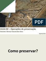 Aula 02- Operacoes de Preservacao