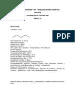 Recristalización en Frio y Análisis Cromatográfico