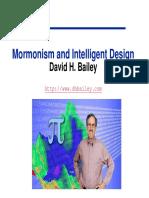 Mormonism and Intelligent Design
