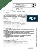 1 Certificacao - 2 Turno - Gabarito - 1 Serie - 2011
