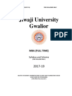 MBA (Full Time - For Colleges) Session 2017-19