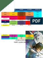 Jadwal Kelas XI MIA 4