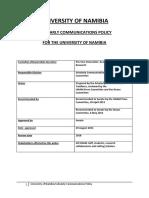 UNAM Scholarly Communication Policy