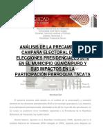 Pre-campaña y compaña electoral