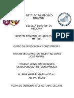 OSTEOPOROSISPOSTMENOPÁUSICA