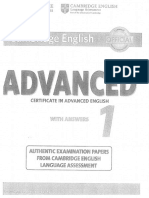 Advanced. Certificate in advanced english 1. With answers. Cambridge english. For revised exam from 2015. Cambridge university press and UCLES 2014.pdf