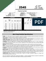 Ingersoll Rand Compressor  - 2545 Engineering Data