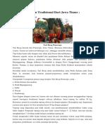 7 Tarian Tradisional Dari Jawa Timur