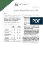 Encuesta Sobre Las Expectativas de Los Especialistas en Economía Del Sector Privado Septiembre 2018