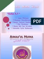 Presentasi Asmaa'Ul Husna 1