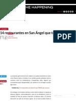 14 restaurantes en San Ángel que te sorprenderán