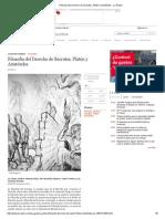 Filosofía Del Derecho de Sócrates, Platón y Aristóteles - La Razón