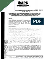 APS-Res Adm 2012-362 Complementa Res Adm 432-2011 Procedimientos Consultores
