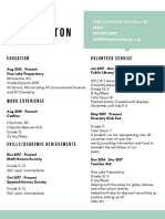 nwashington resume