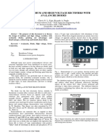 Design of Medium and High Voltage Rectifiers With Avalanche Diodes