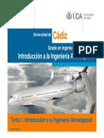 2013 - IIA - Tema01 - Introducción a La Ingeniería Aeroespacial
