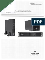 Liebert GXT3 UPS (120V, 208V) 500VA-3000VA User Manual(Engli
