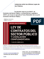 Tabla de Correspondencias Entre Las Últimas Leyes de Contratos Del Sector Público