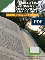 Pequeño Cuaderno de Anmación Bíblica - 003 Guía Básica Para Iniciar El Mes de Las Misiones Con La Palabra de Dios
