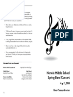2018-05-15 MS Band Concert Program