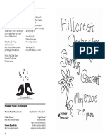 2015-05-13 DRAFT 3 Hillcrest Orch Program May 2015