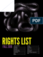 Foreign Rights 2018 Catalog