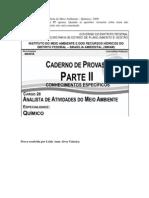 CESPE - IBRAM - Químico - 2009 - Resolução Comentada