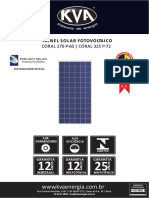 Painel Solar Fotovoltaico Coral 270 325 Rev 0001
