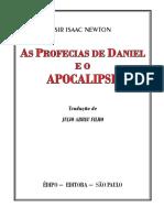 Isaac Newton - As Profecias de Daniel e o Apocalipse [Editora Édipo - 1950]