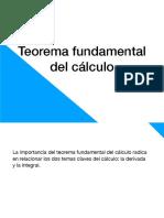 Clase 04-09-2018 - Torema Fundamental Del Cálculo