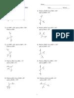 HW #6 Angle Addition Postulate