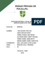 Evolución Historica y Socialde Las Municipalidades Del Peru