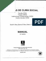 Escalas de Clima Social, Manual 1