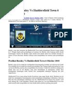 Prediksi Brunley vs Huddersfield Town 6 Oktober 2018