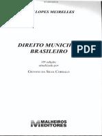 Direito Municipal Brasileiro Meirelles 18.Ed