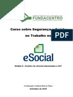 Modulo II Eventos Do ESocial SST