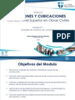Mediciones y Cubicaciones Unidad 1
