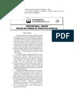 CESGRANRIO - BR - Vendas em Química - Resolução Comentada