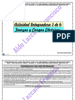 Actividad Integradora 3 de 6 - Fuerza y Cargas Electricas - Módulo 12 - Prepa en línea - SEP - G-12