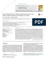 Smart charging of electric vehicles with photovoltaic power and vehicle-to-grid technology in a microgrid; a case study