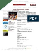 Para Comprender La Antropología Biológica--Rebato, E.M.--verbo Divino