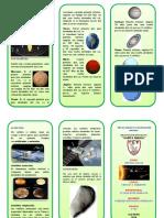 Triptico Sistema Planetario Solar