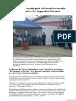 Panama Es El Cuarto Pais Con Mas Droga Incautada