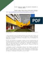 A Questão Da Habitação Social No Ensino de Projeto Integrado Ao Desenho Urbano
