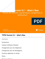 TYPO3 v9 2 Whats New.french