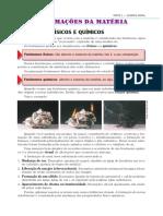 Aula 05 - Fenômenos Físicos e Químicos e Equações Químicas
