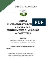 Modulo Electrotecnia - 2do Quimestre