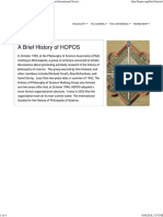 HOPOS Brief History & Early Years - The International Society for History of Philosophy of Science