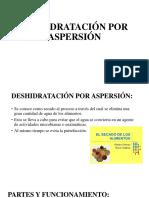 Deshidratación Por Aspersión